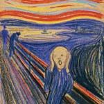 This is the face of someone who has just received a margin call, not the famous art called 'The Scream' by Edvard Munch.