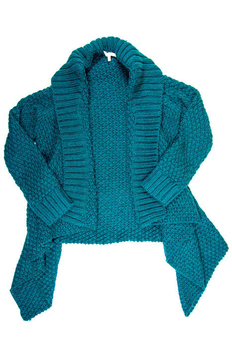 Teal Oversized Cardigan