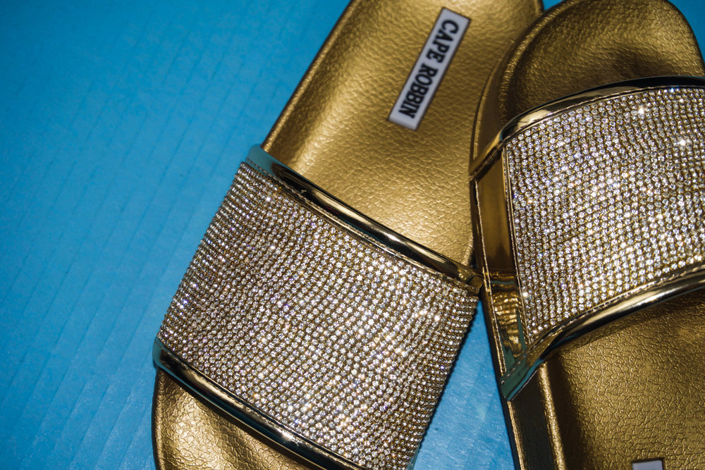 57738d35f27 DIY Fashion  How To Make Sparkly Bling Sandals (feat. Cape Robbin ...