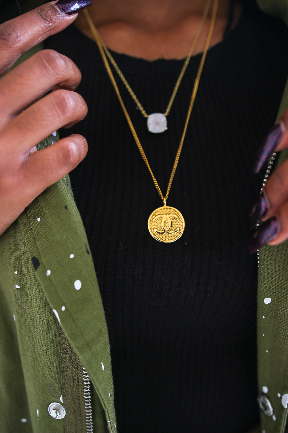 Supply Bloq Necklace. - Chanel - Gold Necklace - Necklace Layering