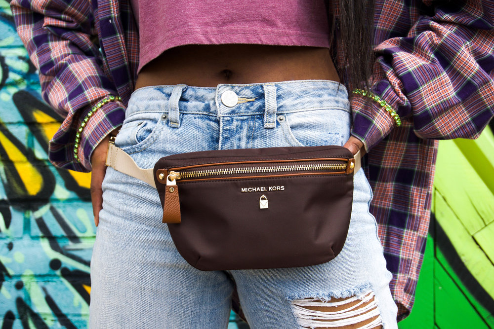 instagram baddie - fashion killa - how to dress broad shoulders - plaid print - button down - button up - mom jeans - distressed jeans - baddie outfits - baddie clothes - school outfit - bar hopping outfit - fall fashion trends - cute casual fall outfits - fall styles for women - swarovski crystal - michael kors - missguided sandals