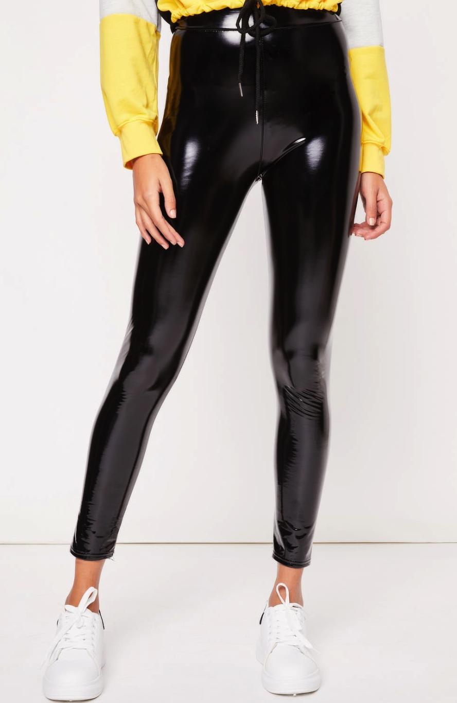 03df64ec6d5b80 Cute Fall Outfits: How to Make Vinyl Leggings Look Like Never Ending ...