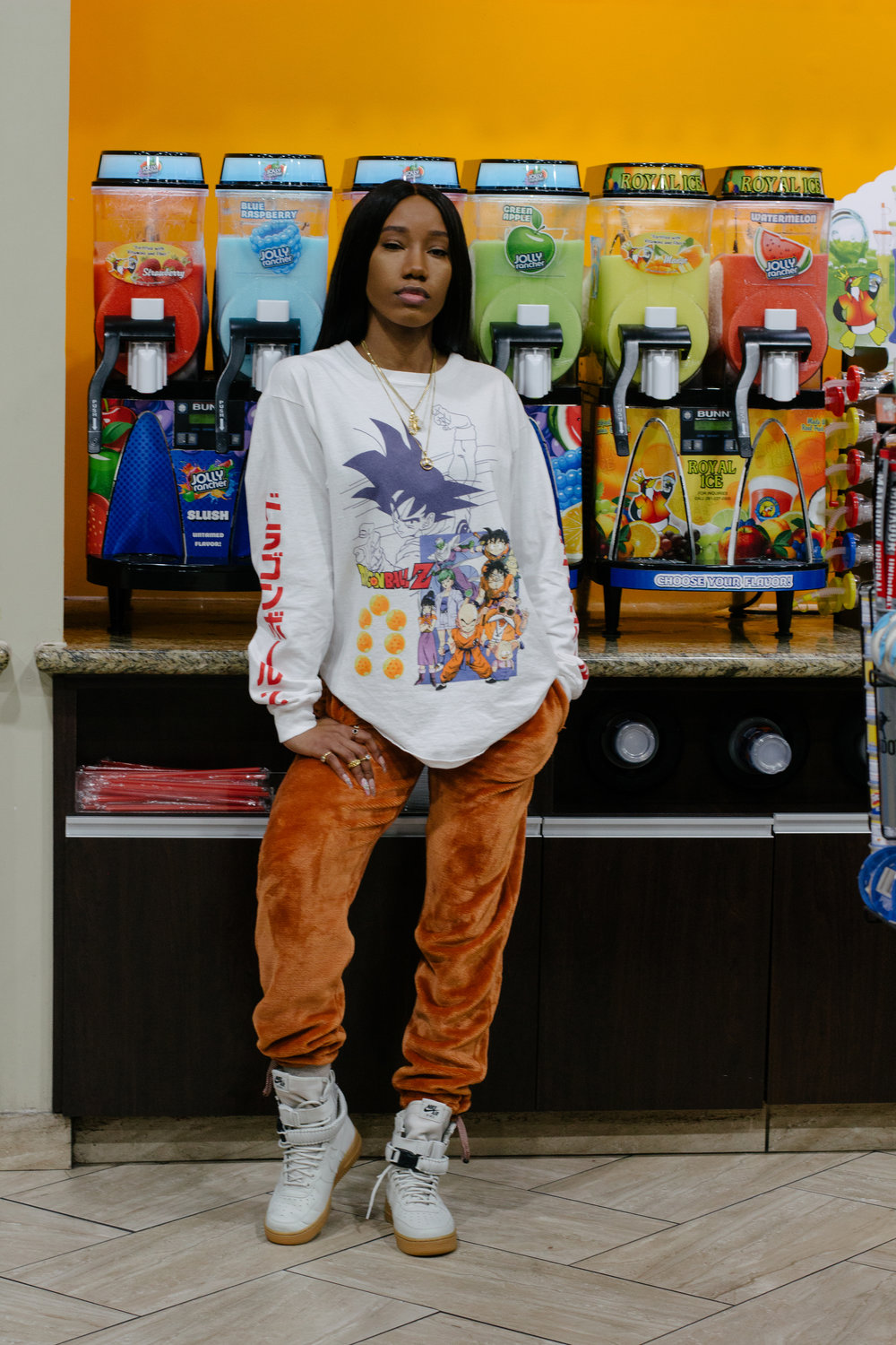Dragon Ball Z - t-shirt - graphic tee - comfy sweatpants - shecozy - womens streetwear - urban outfitters - nike special AF 1's - chicks in kicks - nice kicks - female sneakerfiend - comfy winter outfit - hypebae - hype bae