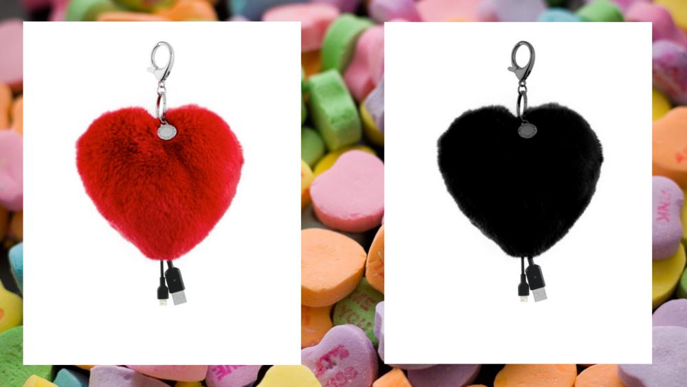 Rebecca Minkoff Bag Charm iPhone Charger:    Red   /   Black