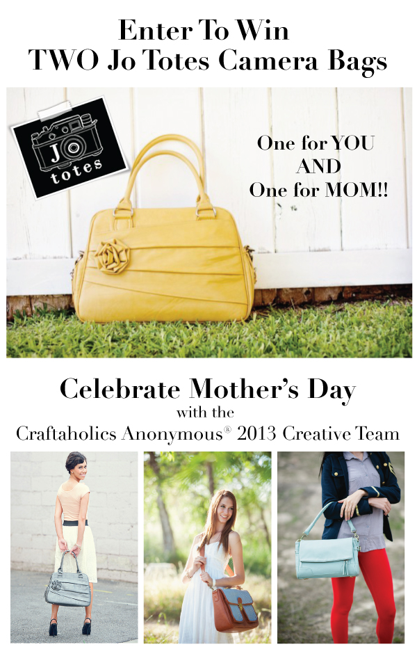 GIVEAWAY - One JoTotes Bag for you AND one for mom