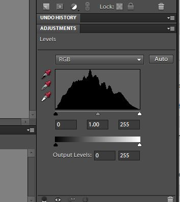 photographing objects using a histogram