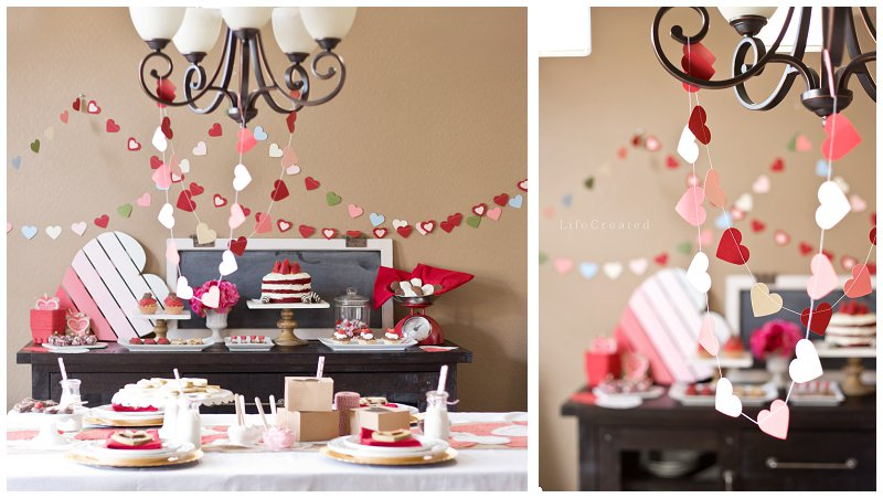 valentines day party styling