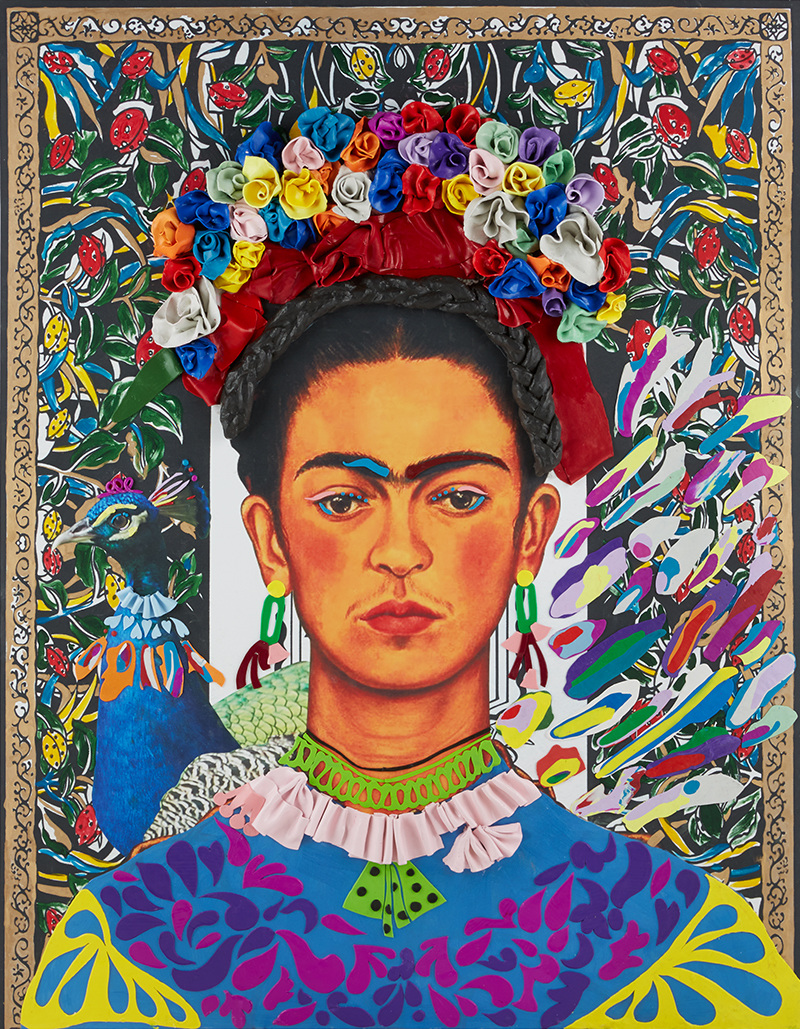 "Timeless SALON ""Frida Kahlo"", 1400mm * 1800mm, Mixed Media"