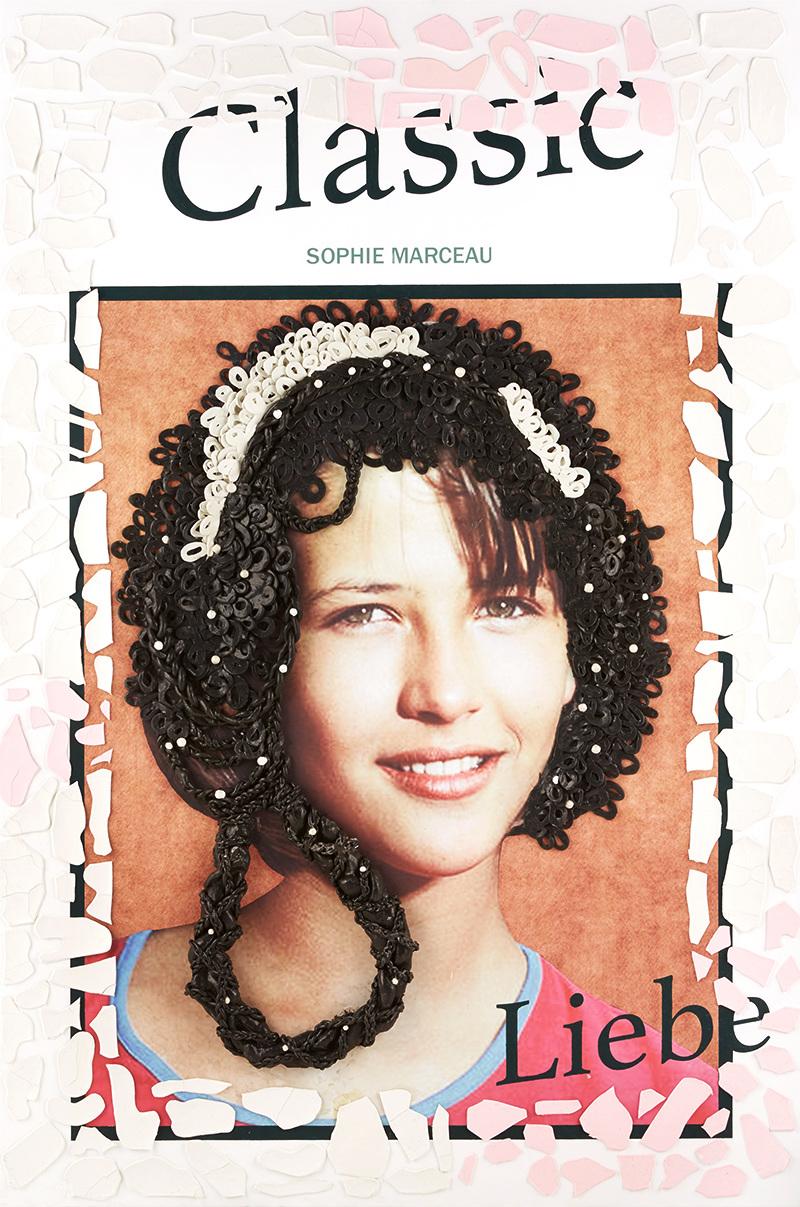 "Timeless SALON ""Sophie Marceau"", 1160mm * 1750mm, Mixed Media"