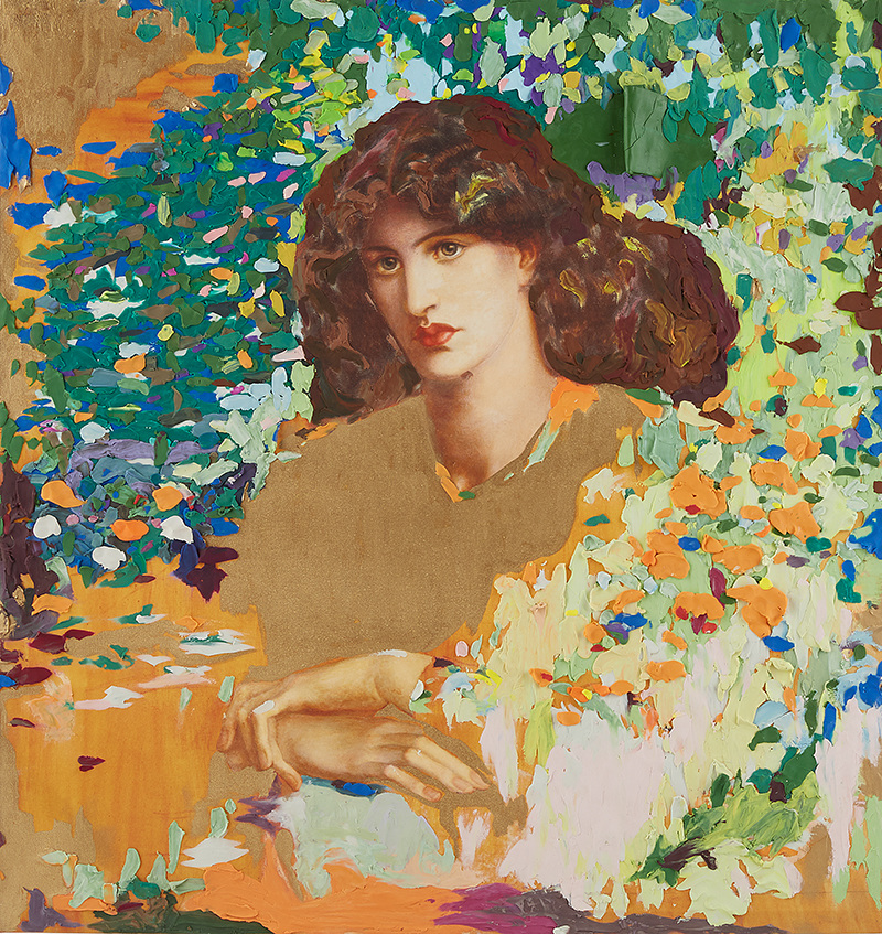 "Timeless SALON ""Rosetti"", 840mm * 890mm, Mixed Media"