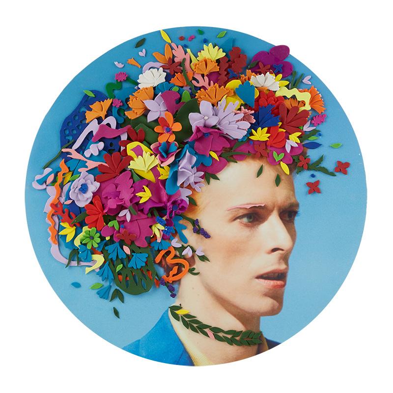 "Timeless SALON ""David Bowie"", 700mm * 700mm, Mixed Media"
