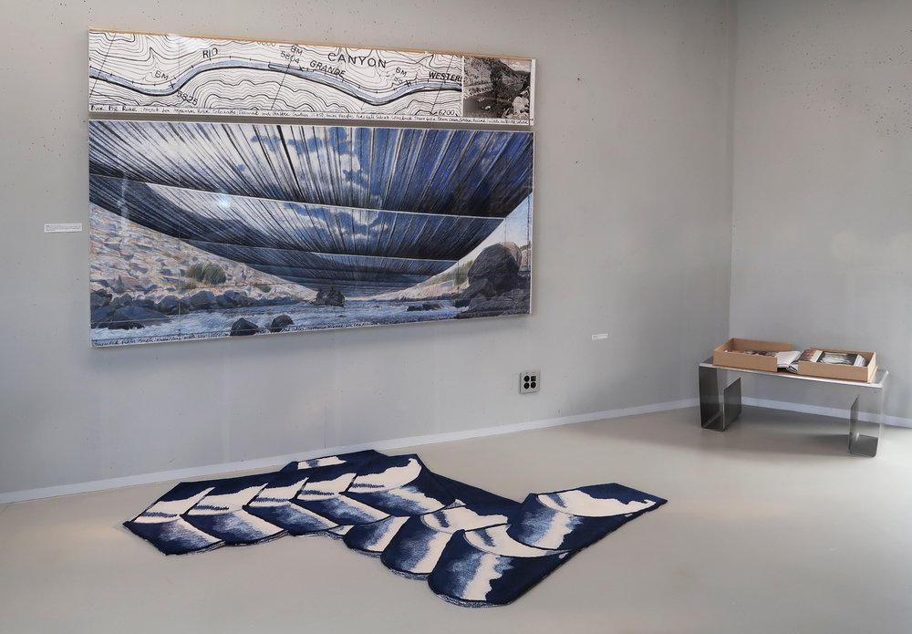 Blue Mineral, 1700mm * 2100mm, Wool, Viscos, Hand-tufted Carpet