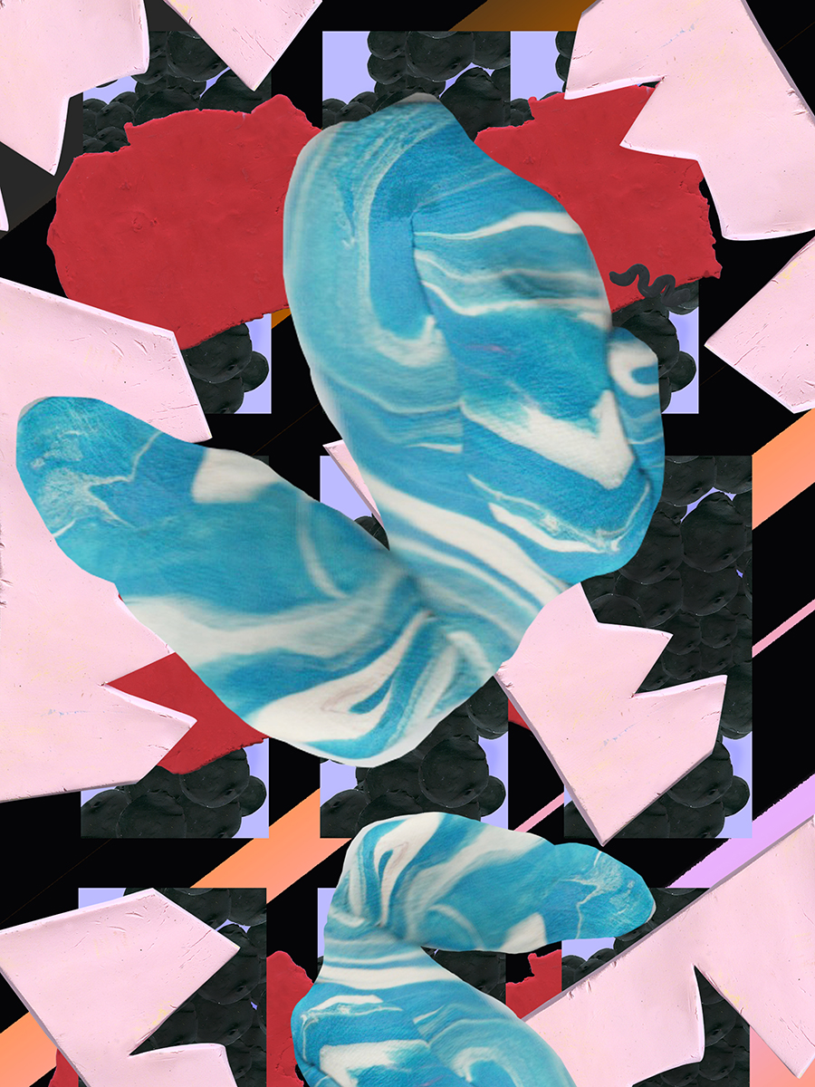Electric Swing 03, Clay Pattern, Size Variable, 2015