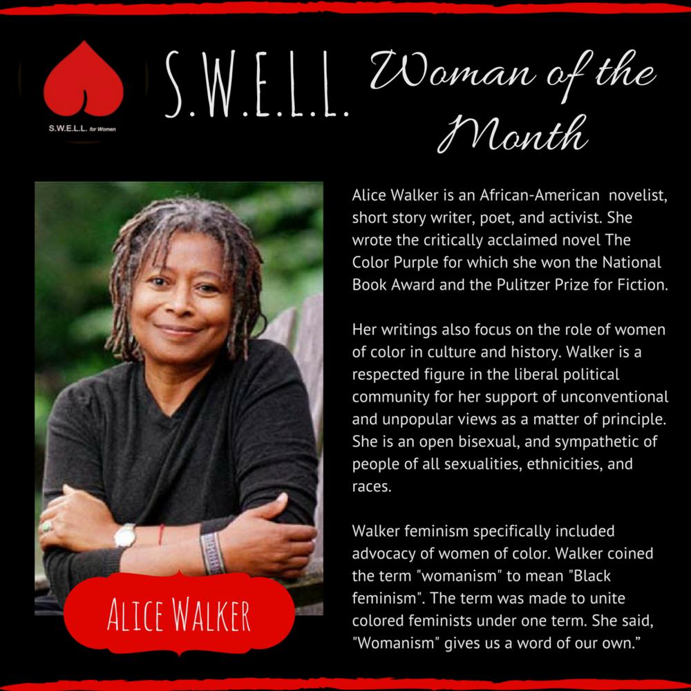 ALICE WALKER ~ The Color Purple, Womanism.