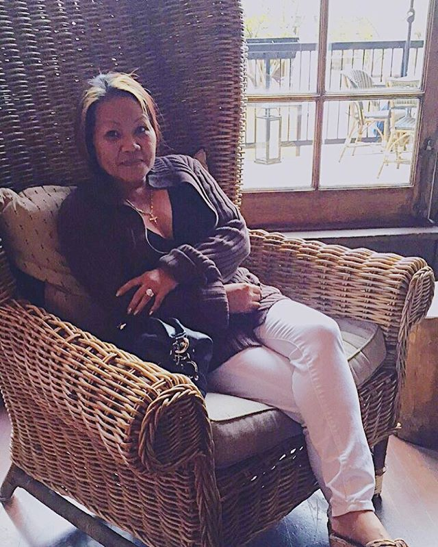 """Ooh, Anak! Take a cute picture of me on the chair 😁"" Love my Ma lol ❤️"