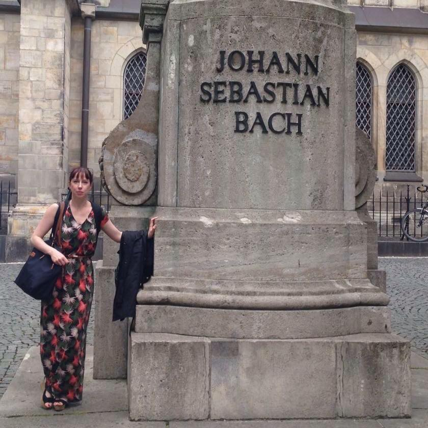 Me and Bach's statue.jpg