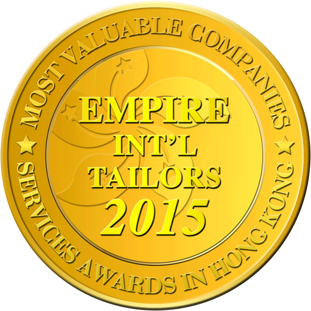 Empire International Tailors Hong Kong Tailors Officlal Awards Badge