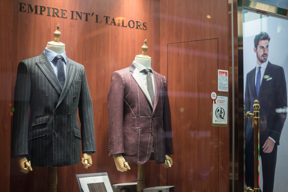 Empire International Tailors Shop in Hong Kong