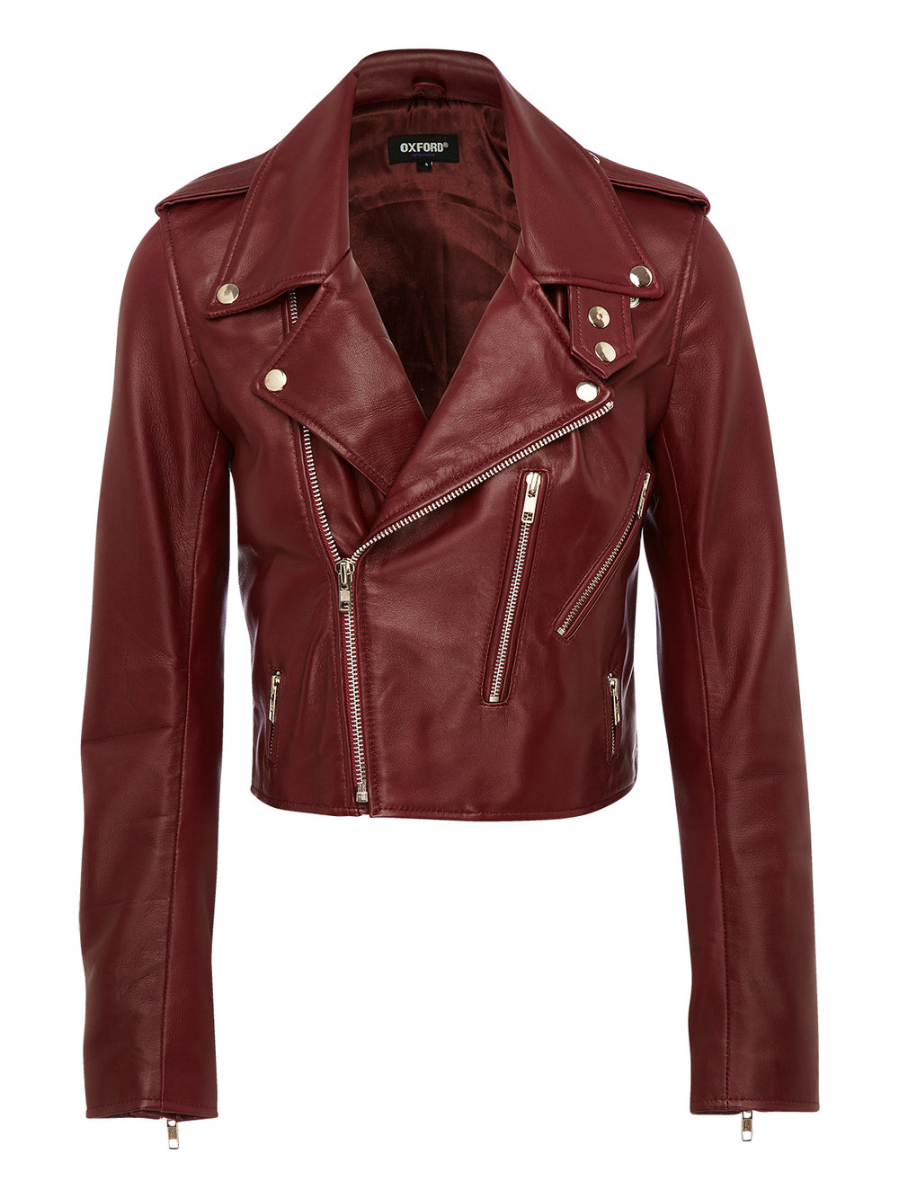 OXFORD Lizzy Crop Leather Jacket $599.00