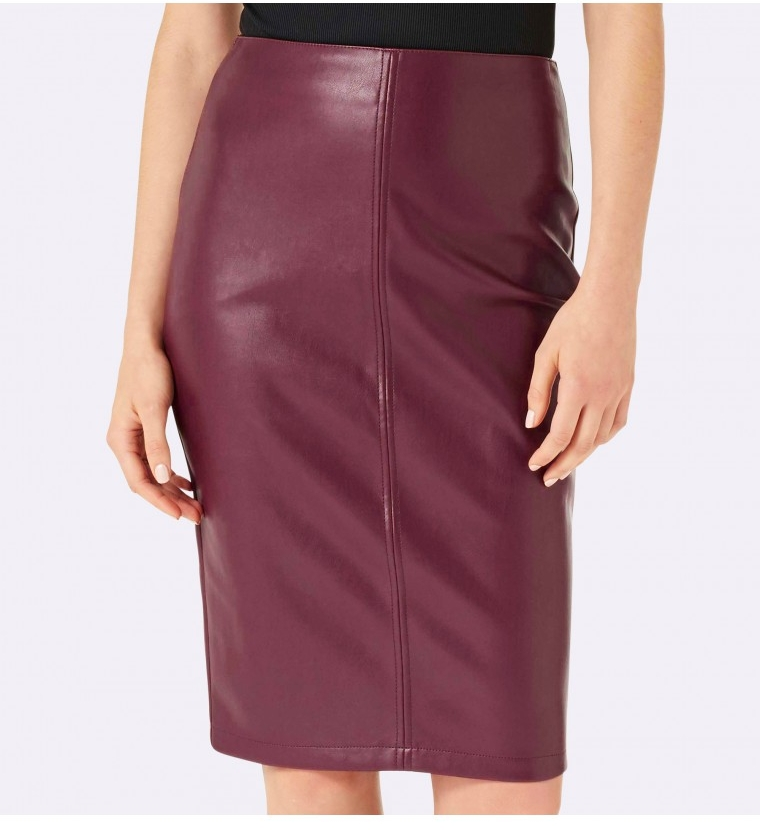 FOREVER NEW Alexis Faux Leather Midi Skirt $69.99