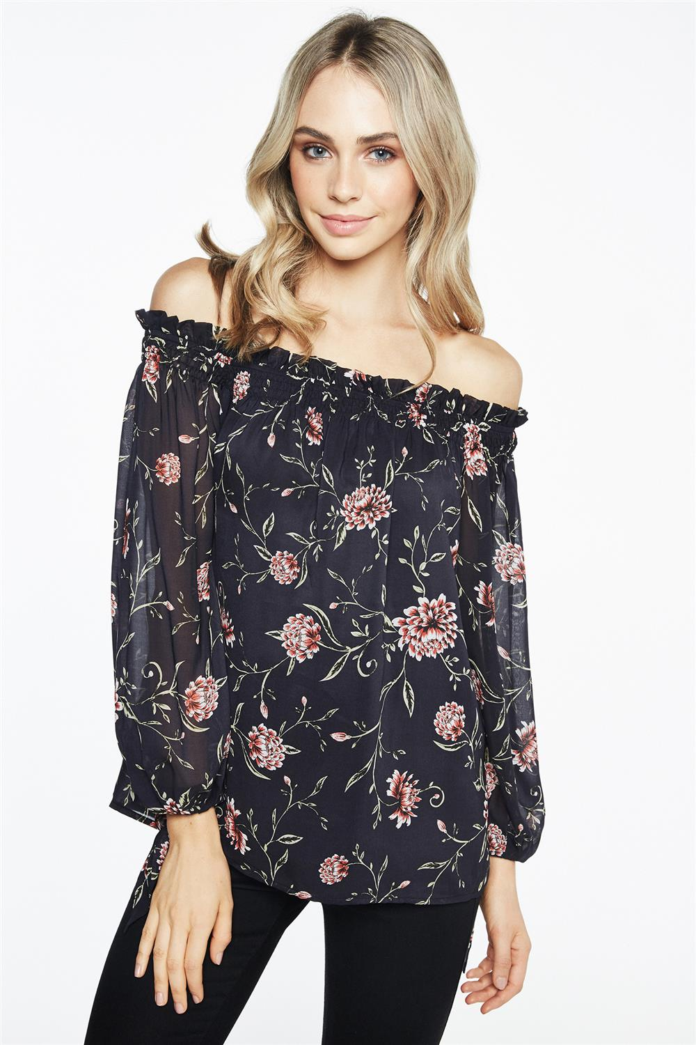 BARDOT Gothic Floral Top $89.99