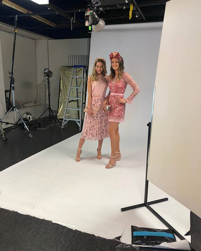Florals, pastels, lace and texture, the perfect combination to create the ultimate Oaks Day outfit, Here's some inspo for you from #behindthescenes shooting for the #heraldsun recently. #work #getthelook