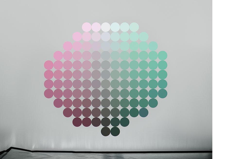 4111-05 Uniform Color Space #05  Pigment Print 5.25 x 7.00 inch Image Size 8.50 x 11.00 inch Paper Size 3 EDP / 4 AP