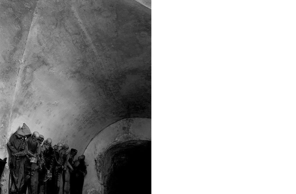 6410-01 Catacombe #32  Platinum Palladium Print 17.50 x22.00 inch Image Size 24.00 x 29.00 inch Paper Size 1 BAT / 4 AP / 24 EDP