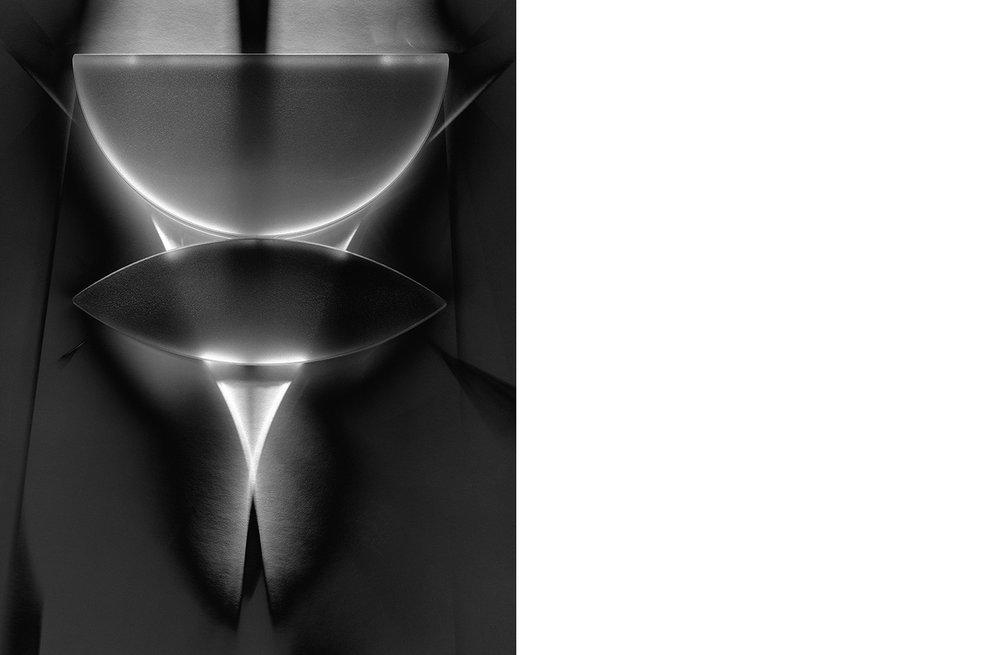 6454-01 Physics - Lens  Platinum Palladium Print 13.06 x10.31 inch Image Size 16.88 x 22.13 inch Paper Size 1 BAT / 1 PP /1 AP / 12 EDP