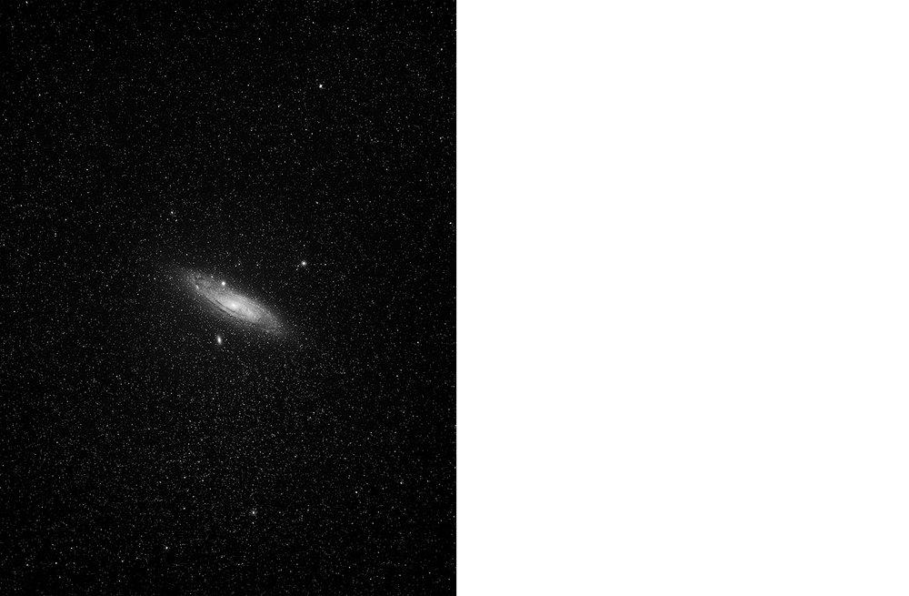 7054-01 Skies - Andromeda  Platinum Palladium Print 17.17 x 22.00 inch Image Size 22.00 x 29.00 Paper Size 1 BAT / 1 PP /2 AP / 12 EDP