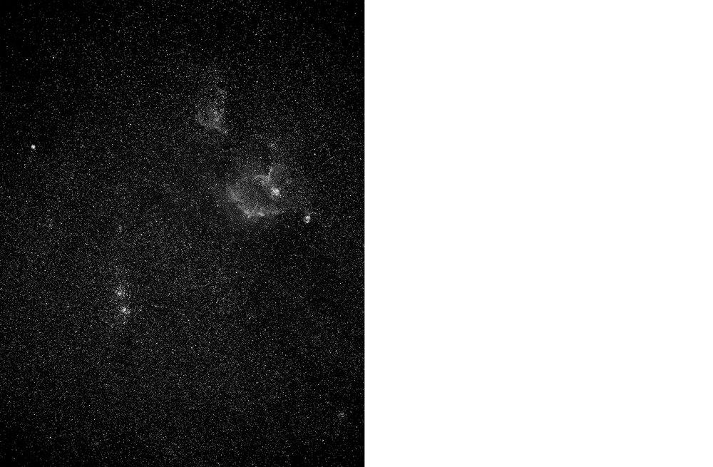 7065-01 Skies - Double Cluster  Platinum Palladium Print 17.17 x 22.00 inch Image Size 22.00 x 29.00 Paper Size 1 BAT / 1 PP /1 AP / 12 EDP
