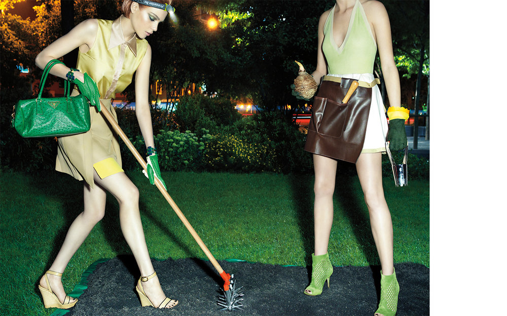 Vogue MIDNIGHT IN THE GARDEN OF GOOD   DESIGN DIRECTOR Danko Steiner FASHION EDITOR Elissa Santisi