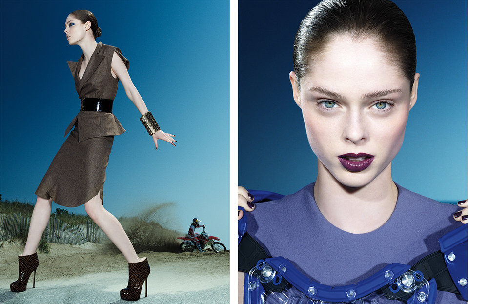Vogue MOTOCROSS   FASHION EDITOR Elissa Santisi MODEL Coco Rocha