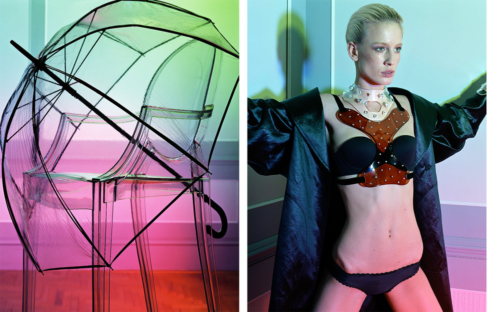Flair DETTAGLI PLEXIGLAS   FASHION EDITOR Tiina Laakkonen SET DESIGN Kevin Bird