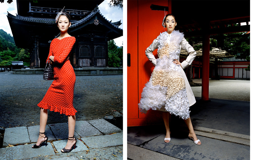 Vogue Japan DRESSING UP AND GOING TO KYOTO   FASHION EDITOR Tiina Laakkonen MAKE UP Fulvia Farolfi