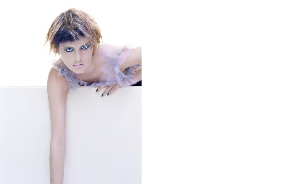 Harper's Bazaar TEAL GREY WHITE WINE   FASHION EDITOR Elissa Santisi CREATIVE DIRECTOR Fabien Baron