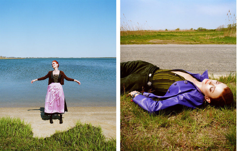 Vogue Germany LAND-ART   FASHION EDITOR Susanne Kölmel MODEL Kristen Bronson