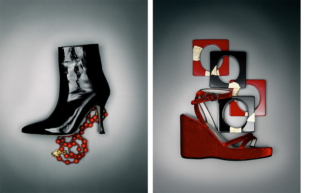 Harper's Bazaar LE ROUGE ET LE NOIR   CREATIVE DIRECTOR Fabien Baron