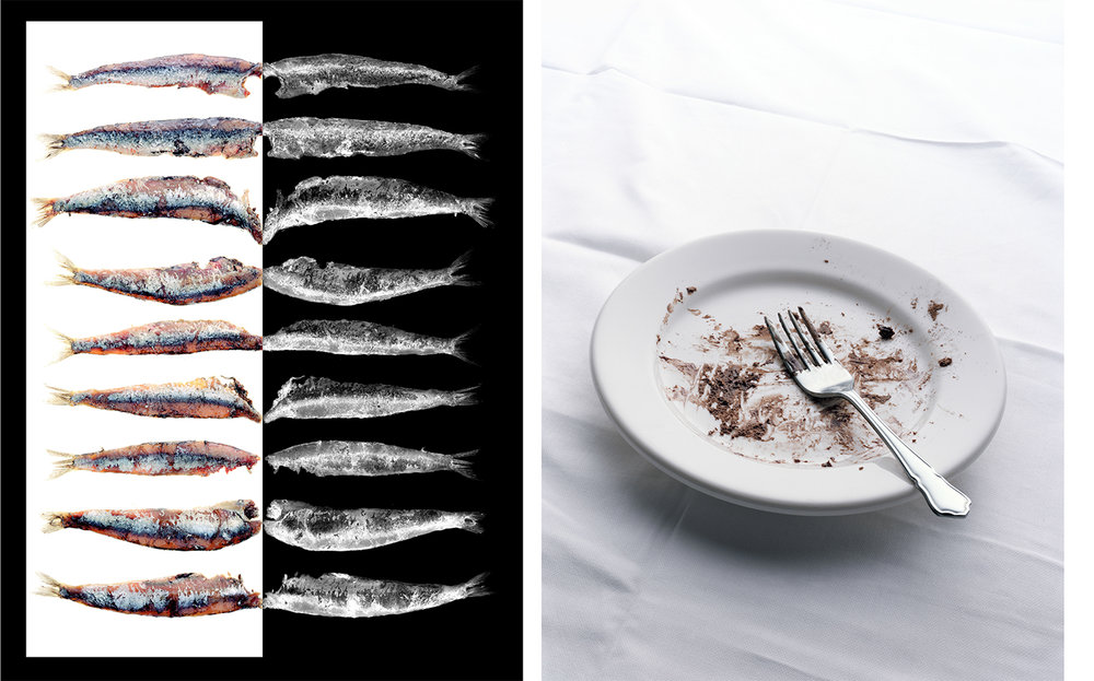 Vogue Paris ANCHOIS: AVANTAGE AUX BLANCS COCOLATE CAKE   ART DIRECTOR Donald Schneider