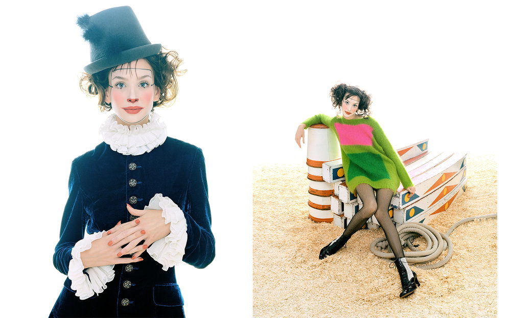 W Magazine THE RINGMASTER   ART DIRECTION Dennis Freedman MAKE UP Topolino