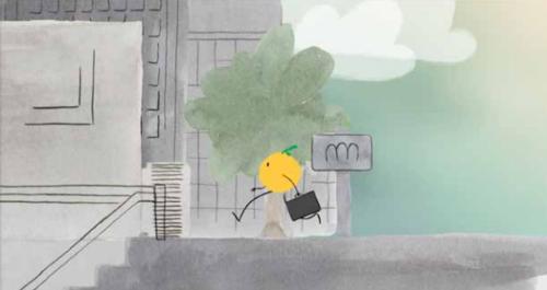 GROUILLONS-NOUS de Margot Reumont, 2014, Animation, 4'   A l'heure de pointe, une foule de fruits se presse dans le métro jusqu'à son terminus : le supermarché.