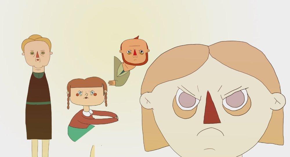 L'INDIGESTION de Mathilde Remy, 2016, Animation, 6'   Un dîner est organisé pour l'anniversaire de la grand-mère. Ce repas est l'opportunité de voir les angoisses, les peurs, les faiblesses d'une famille sous les yeux d'une grand-mère.