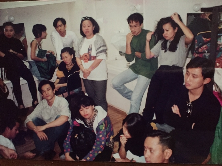 Yubes as Boss Quek, non-singing supporting role, as well as Technical Manager, Beauty World, 1992. With him familiar theatre faces - Nora Samosir, Alec Tok, Cindy Sim, Lok Meng Chue, Gerald Chew, Noorlinah Mohd, Rosita Ng.