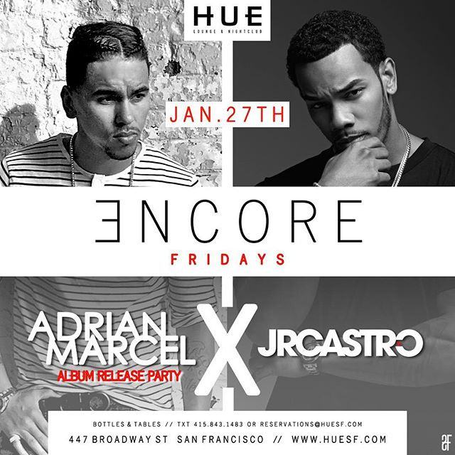 #SanFrancisco Fri Jan 27th I'm performing live at  @huesf w/ @adrianmarcel ladies this night for you! #bayarea (Contact Ben for bottle service 925-915-1405)