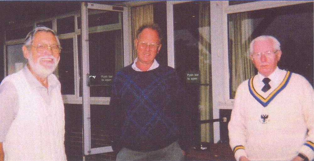 Vice Presidents: John Stow, John Wyatt and Cliff Jacobs.  Last Ewell Ruxley Game at North Holmwood, September 2002