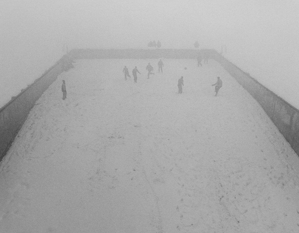 Football In Snowstorm