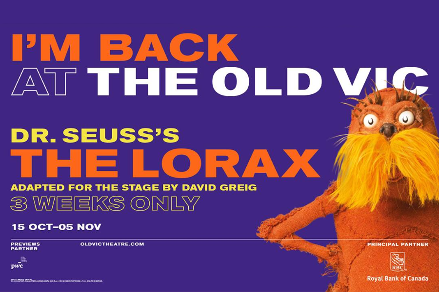The Lorax    Starring     Laura Caldow, Ben Thompson, David Ricardo-Pearce    Shot over two performances with two cameras as a high-end archive
