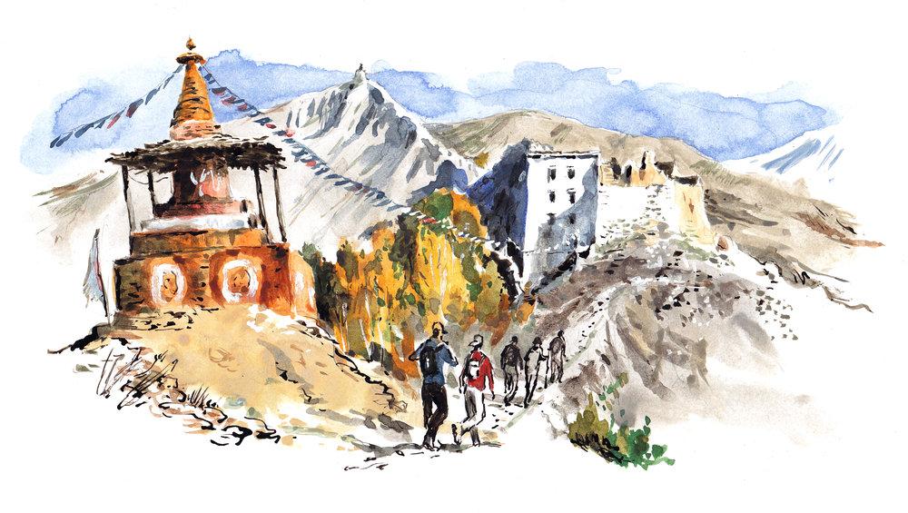 Mustang trek, Tibet
