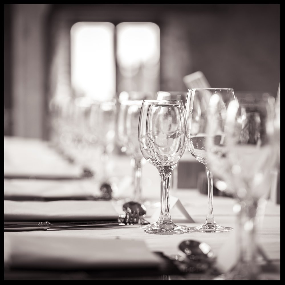 Wedding Breakfast Table Decoration - shot by Nick Church Photography