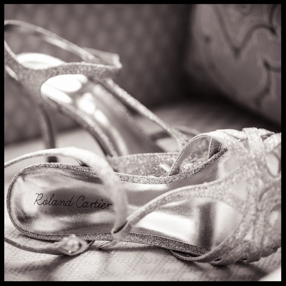 Brides Wedding Shoes in Somerset by Nick Church Photogaphy